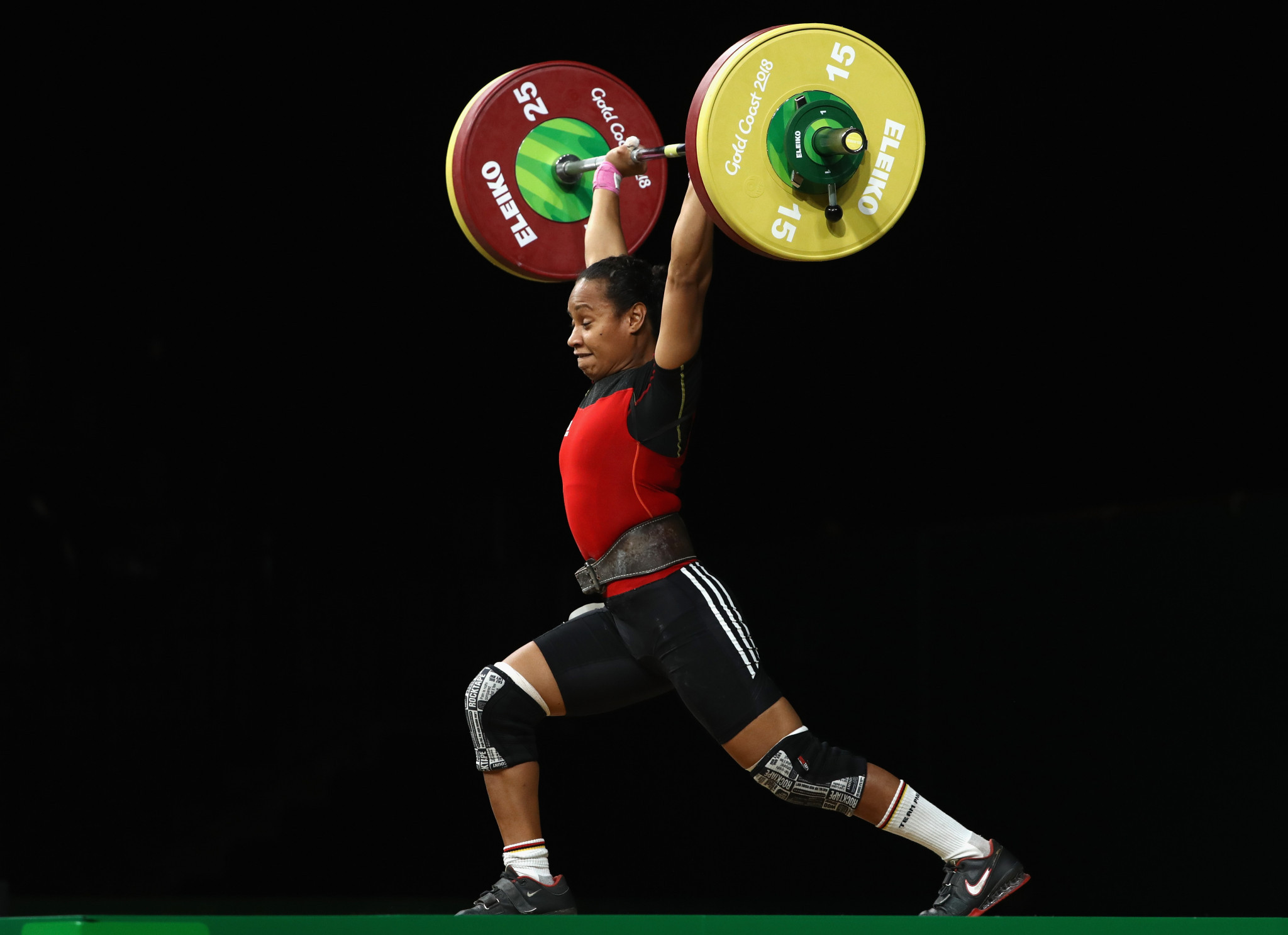 DIka Toua trains at the Oceania Weightlifting Institute in New Caledonia ©Getty Images