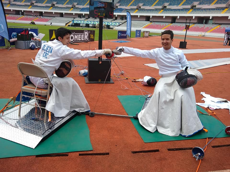 Wheelchair fencing showcase takes place in Costa Rica