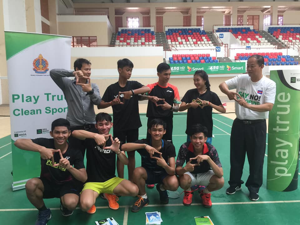 Cambodia Anti-Doping Agency holds educational activity for national badminton team