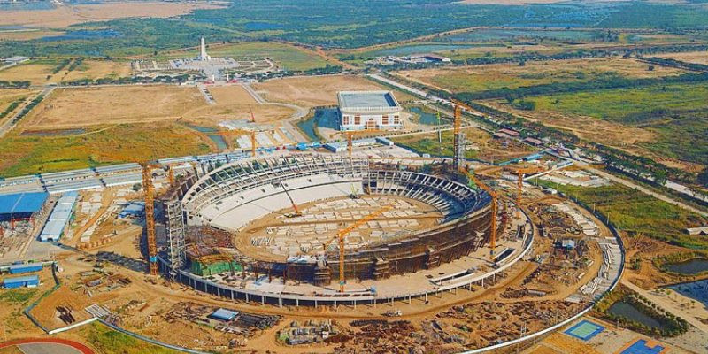 The Morodoc Techo National Stadium is being constructed for the 2023 South East Asian Games in Cambodia ©Asean Football
