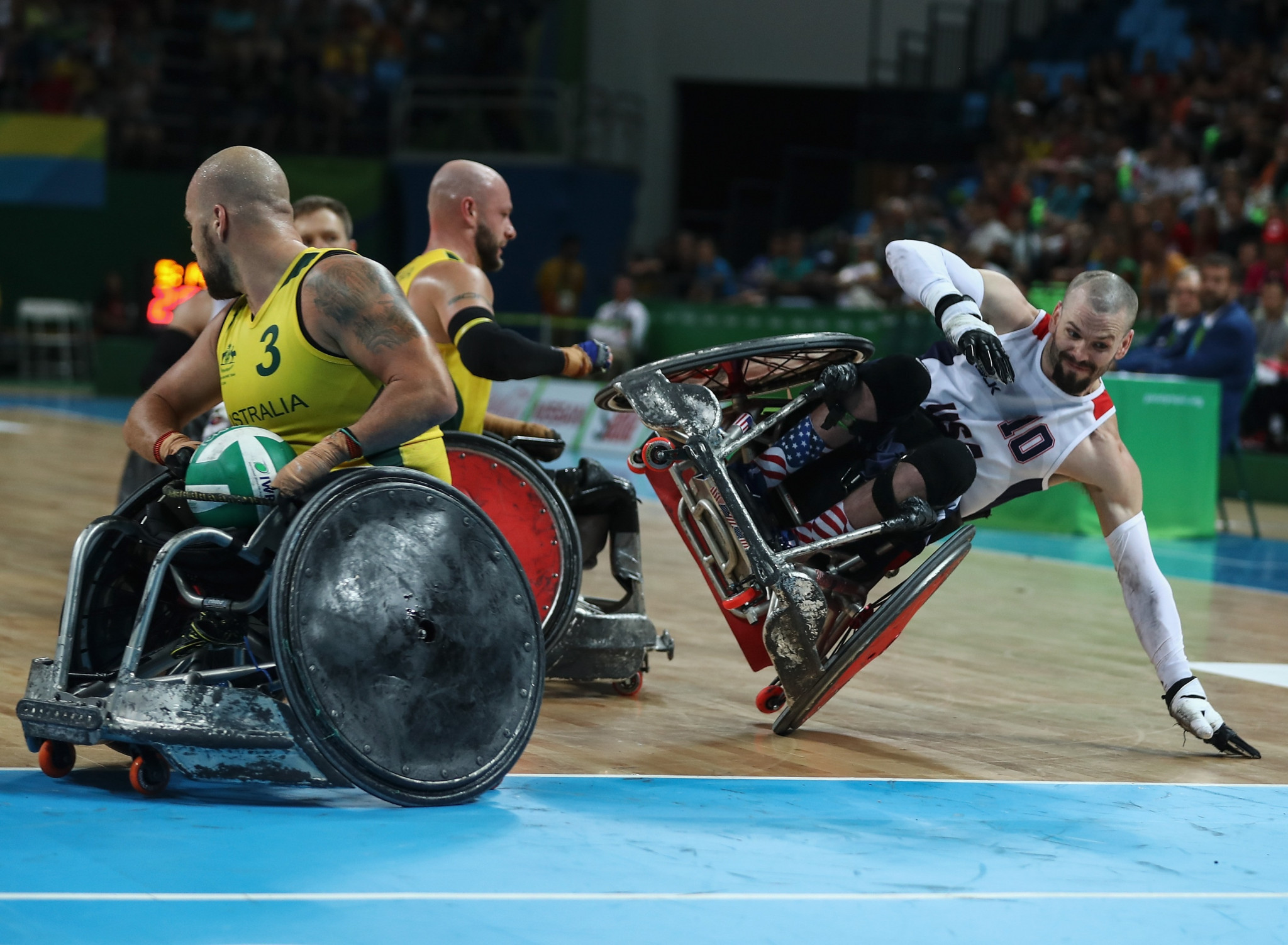 Wheelchair rugby has been an official medal sport at the Paralympic Games since Sydney 2000 ©Getty Images