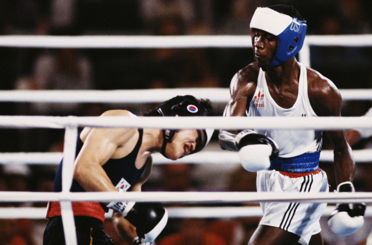 Headguards are made compulsory at the Los Angeles 1984 Olympic Games ©Getty Images