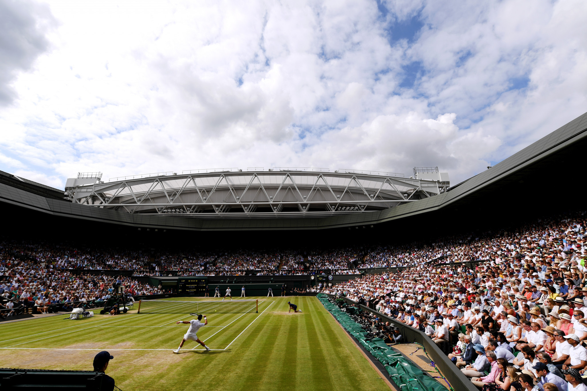 The All England Lawn Tennis Club have ruled out playing Wimbledon behind closed doors ©Getty Images