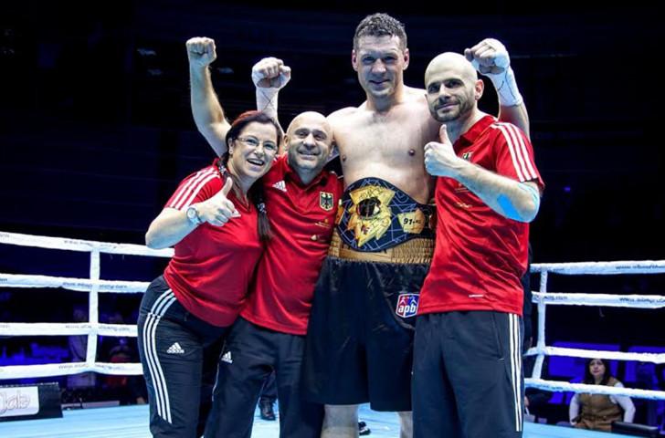 German super heavyweight Erik Pfeifer becomes the first APB world champion ©EUBC