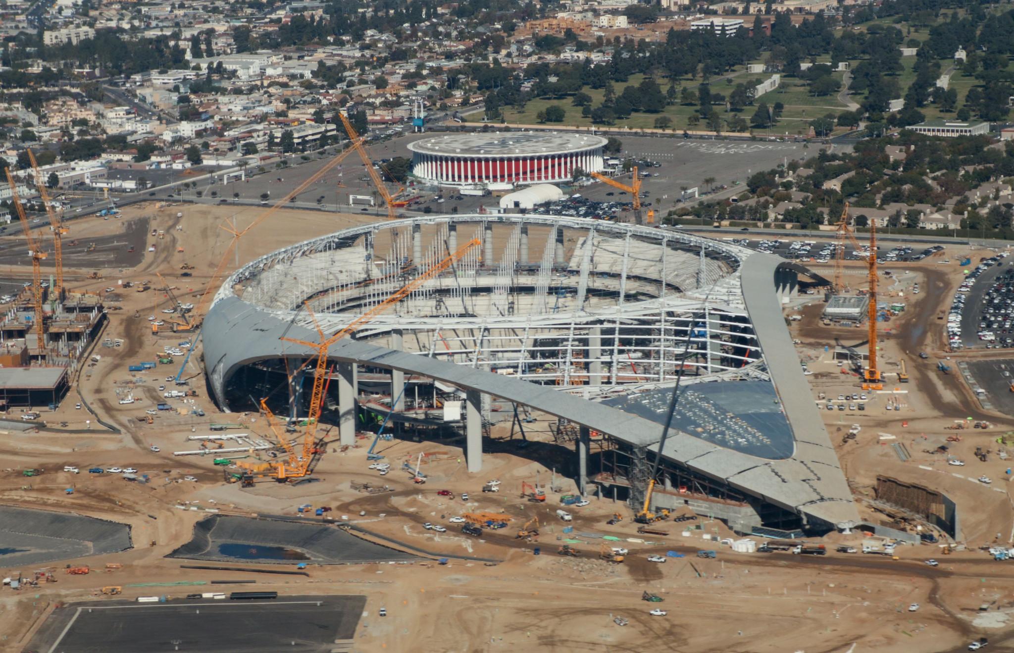 SoFi Stadium construction continues despite worker's positive coronavirus test