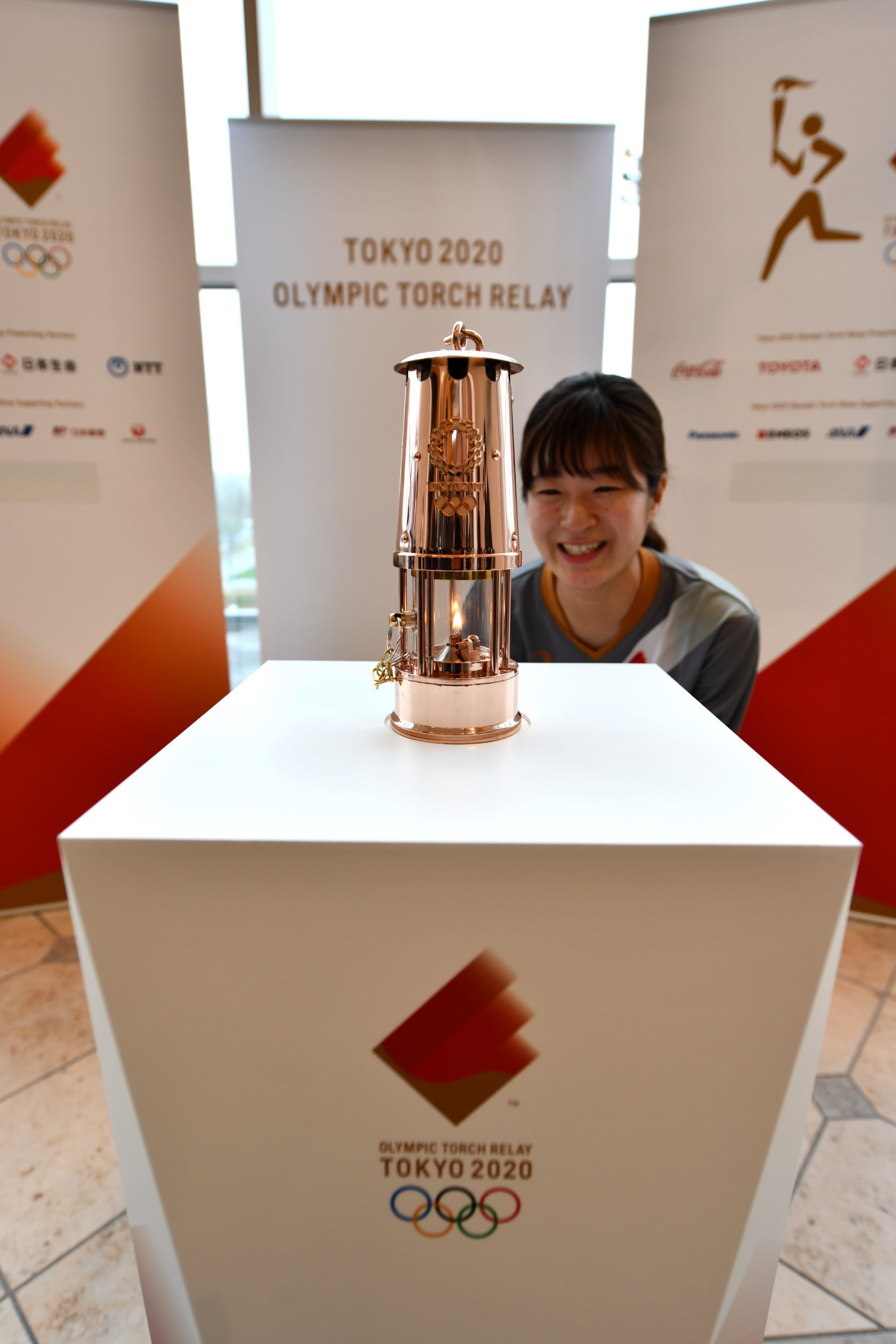 The Flame remains on display despite the Olympic postponement ©Getty Images