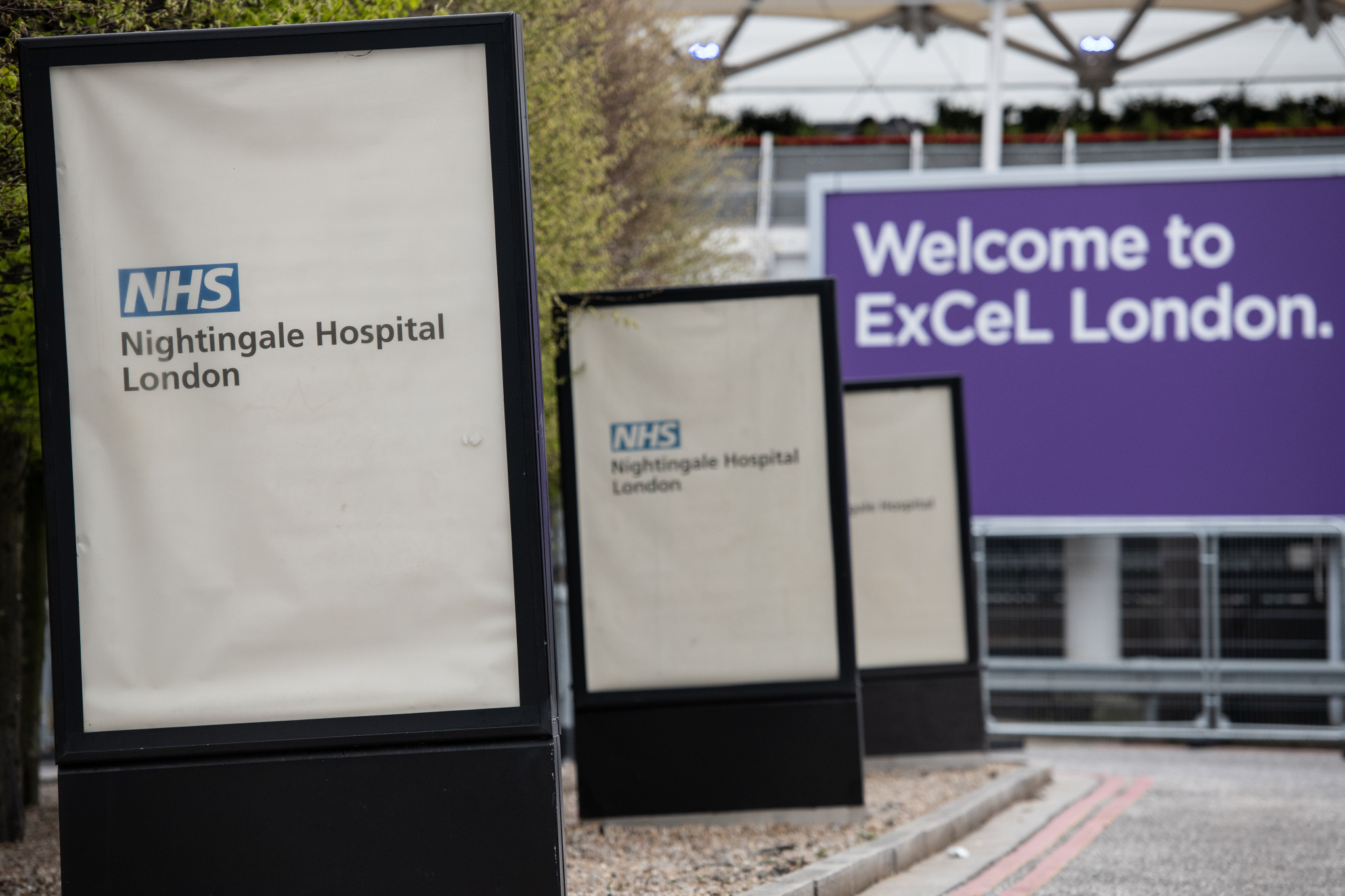 The ExCeL Centre in London has been transformed into a temporary hospital ©Getty Images