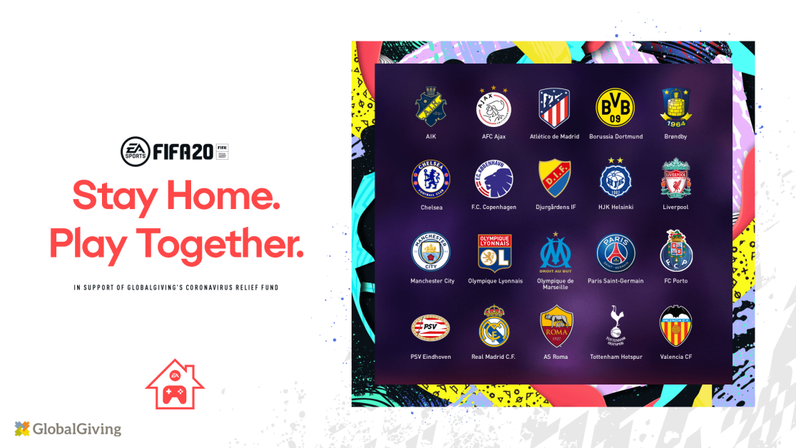 FIFA 20 and EA have launched their new isolation tournament Stay and Play Cup ©FIFA