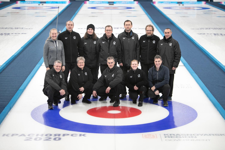 Christian Leibbrandt was the official timer at the 2020 World Junior Curling Championships in Krasnoyarsk ©WCF