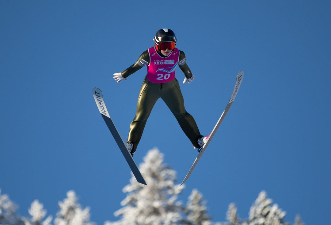 Women's Nordic combined competition was contested at the Lausanne 2020 Winter Youth Olympics ©OISphoto