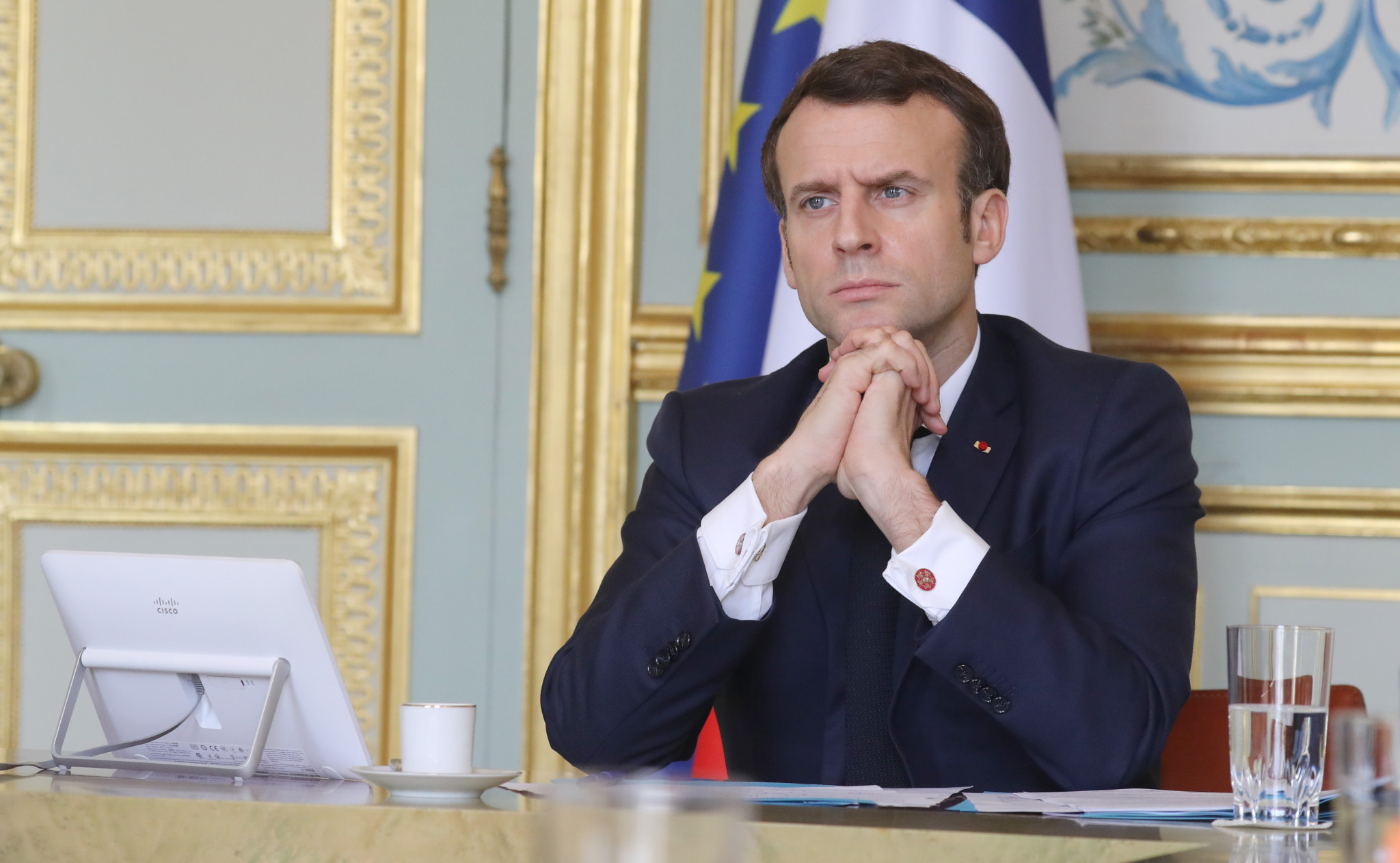 French President Emmanuel Macron has pledged to rebuild Notre-Dame in time for the Paris 2024 Olympic and Paralympic Games ©Getty Images
