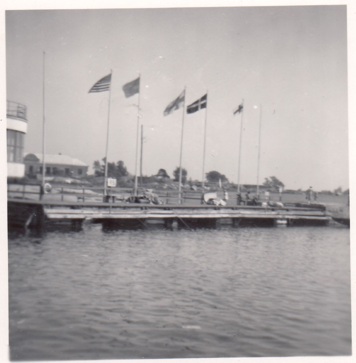 The flag of the Faroe Islands flew at the Closing Ceremony of the 1952 Olympic Games after the Chinese left the event early © Súsanna í Búðini