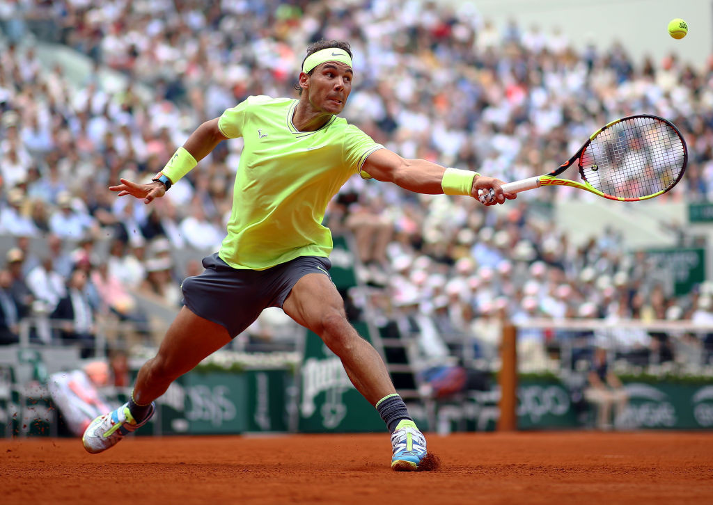 A shirt worn by Rafael Nadal during last year's French Open has been auctioned ©Getty Images