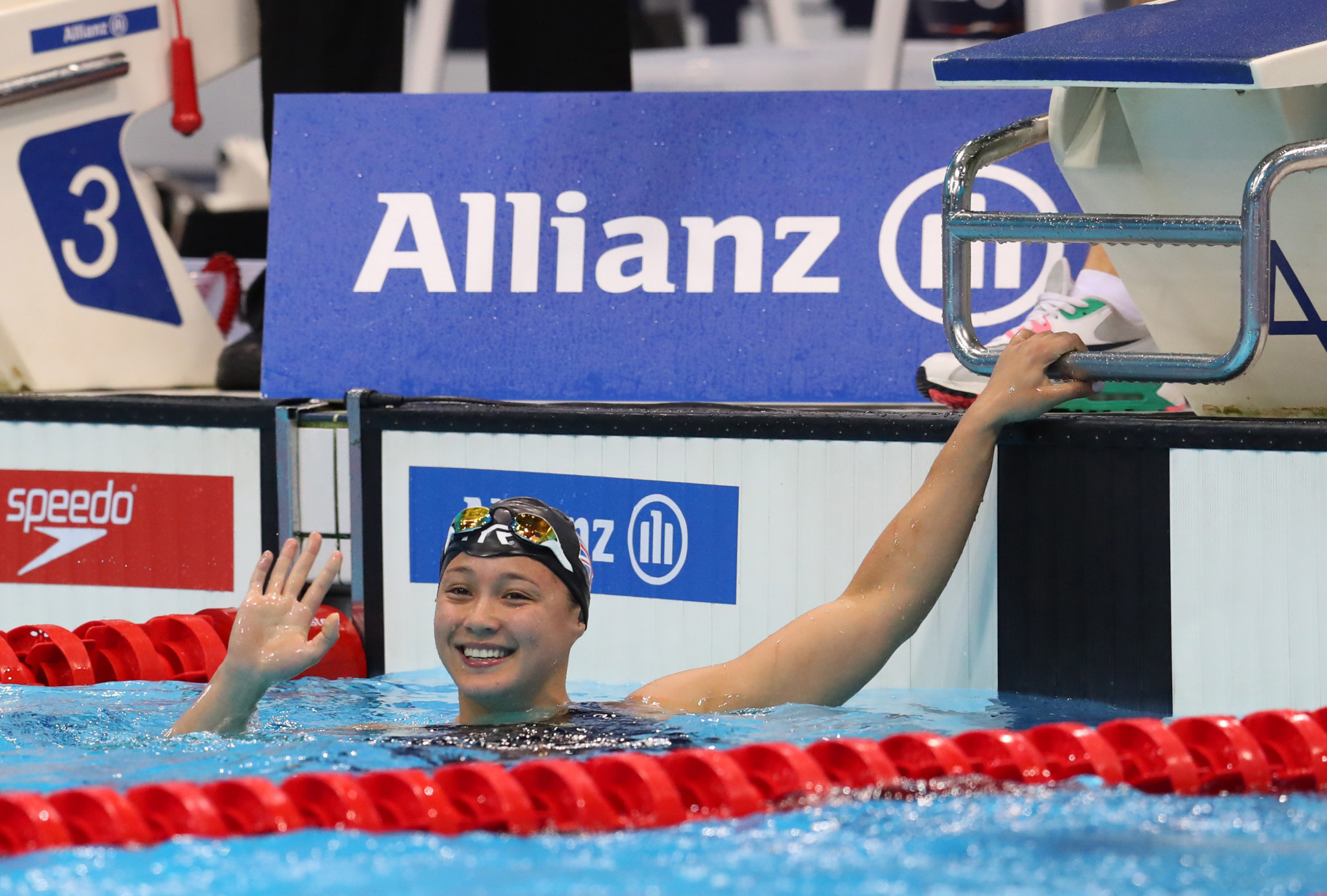 Para-swimming world champion Alice Tai did an Instagram Live with boyfriend Simone Barlaam ©Getty Images