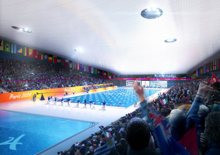 Paris 2024 are reportedly considering two proposals for an Olympic Aquatic Centre project in the Saint-Denis region ©Getty Images