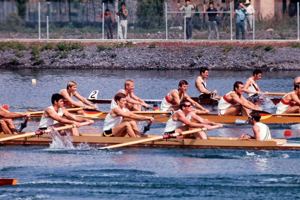 Rowing at altitude in the 1968 Mexico Olympics left competitors - Ken Dwan amongst them - struggling for breath. But more than 50 years on the Briton has drawn hugely on that experience ©Getty Images