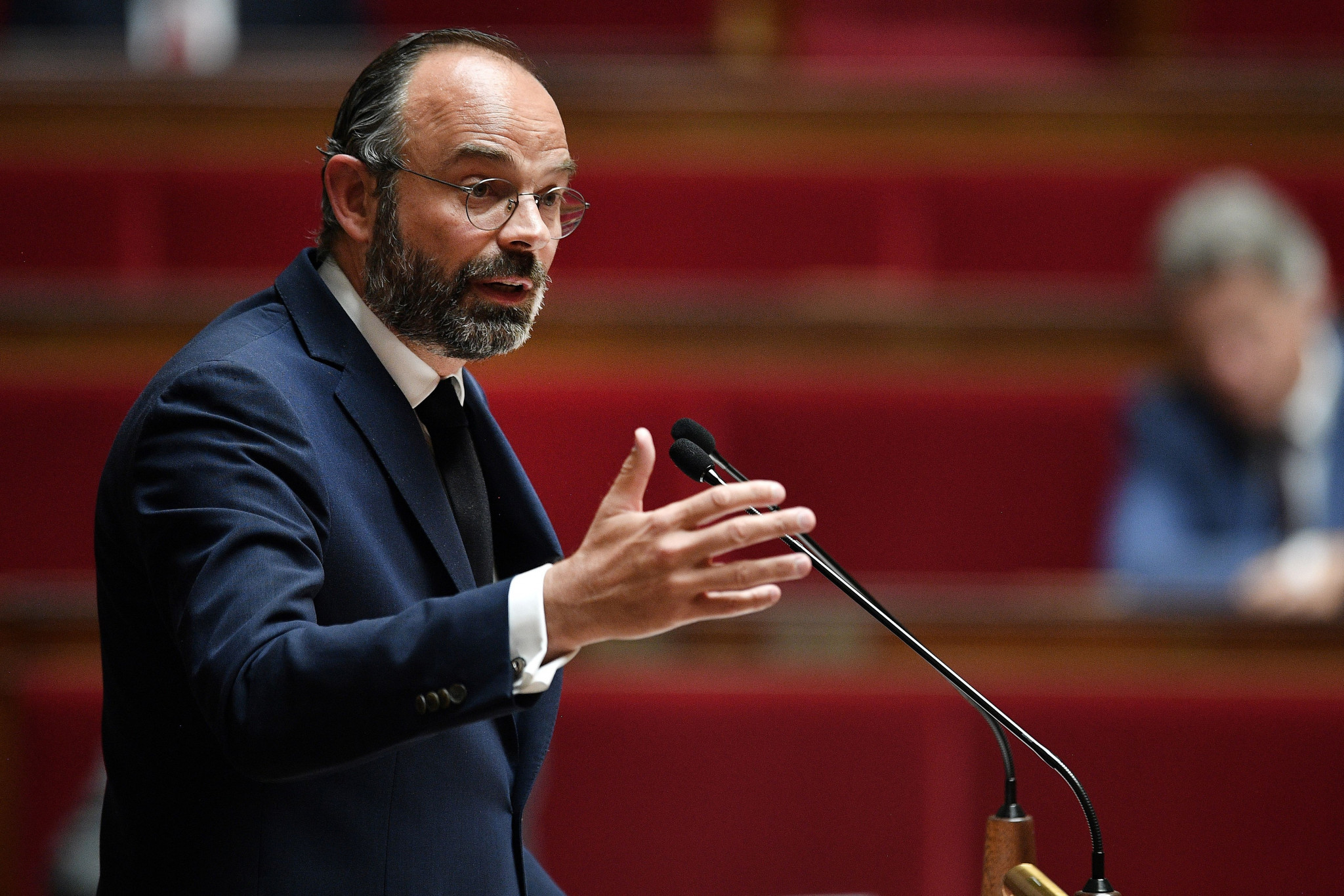 French Prime Minister Edouard Philippe has said sport cannot resume in the country until at least September ©Getty Images