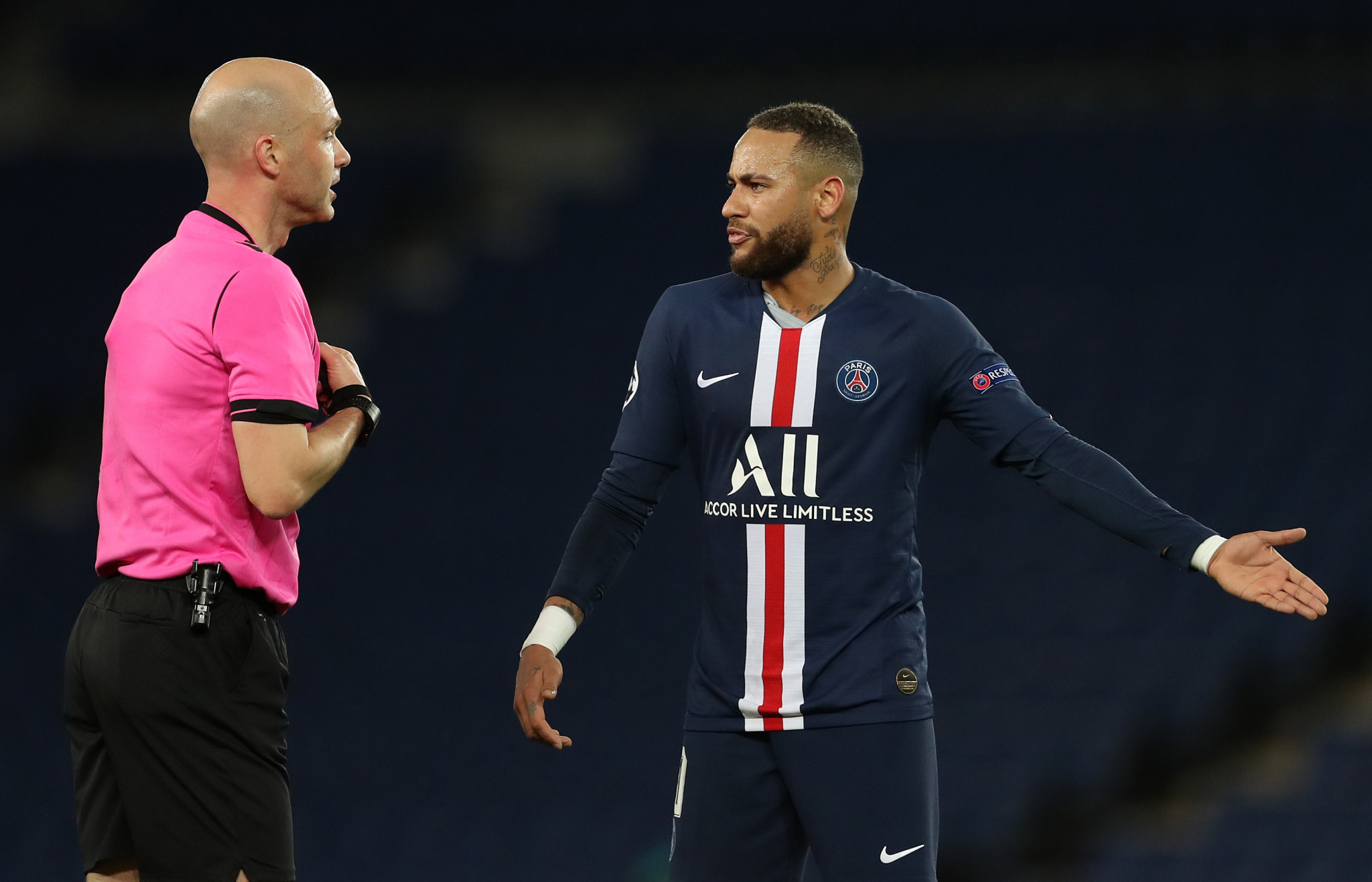 Paris Saint-Germain are one of two French clubs still in the UEFA Champions League, but they appear unable to play again this season ©Getty Images