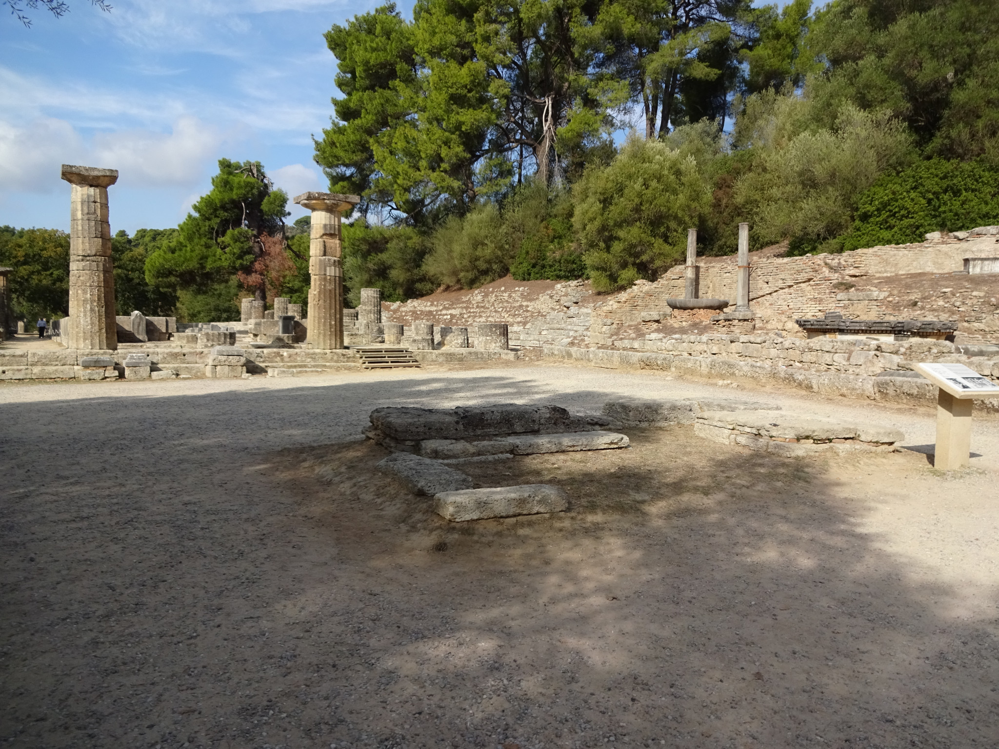 The site of the ancient Olympic Games, including the Temple of Hera, will be available to view in a digital application as part of a new project ©Philip Barker
