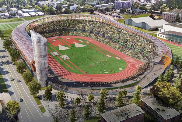 The World Athletics Championships in Eugene were moved to 2022 to avoid a clash with the rescheduled Olympic Games ©World Athletics