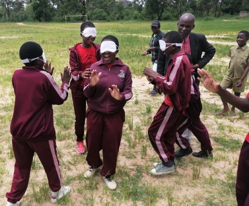 The ZNPC first introduced blind football in 2018 ©IBSA
