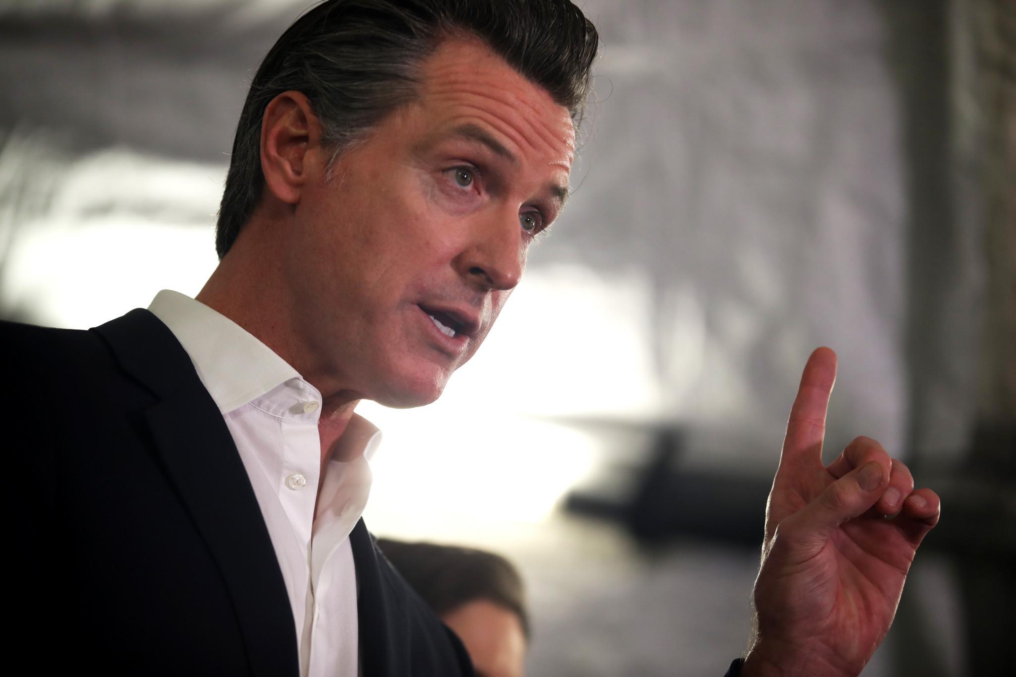 California Governor Newsom says COVID-19 vaccine needed to fill stadiums