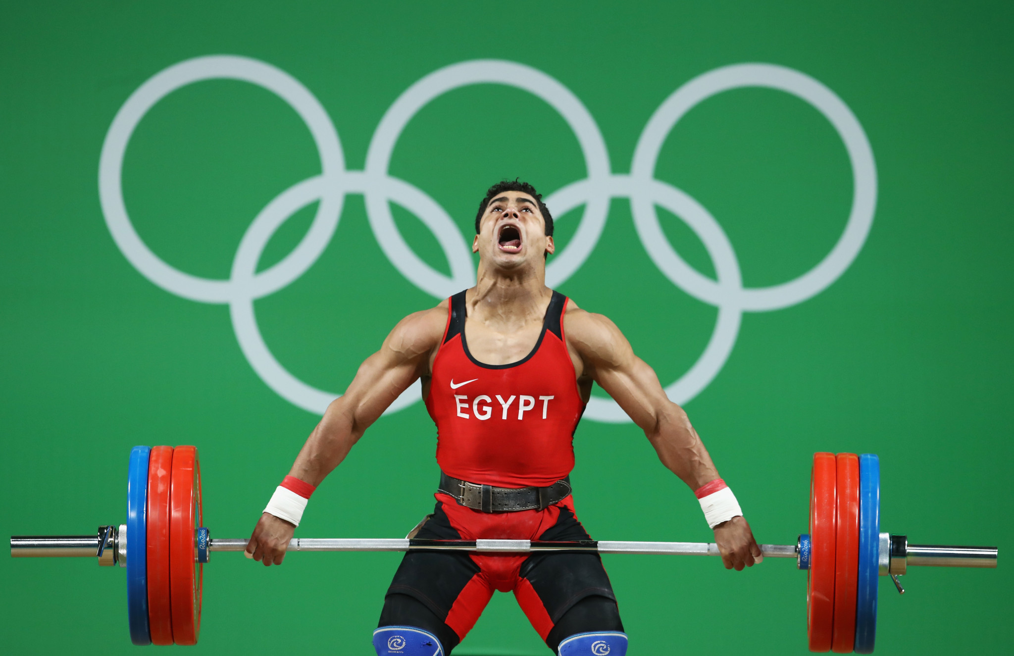 Egypt won two weightlifting medals at Rio 2016 but is banned from the sport at Tokyo 2020 ©Getty Images