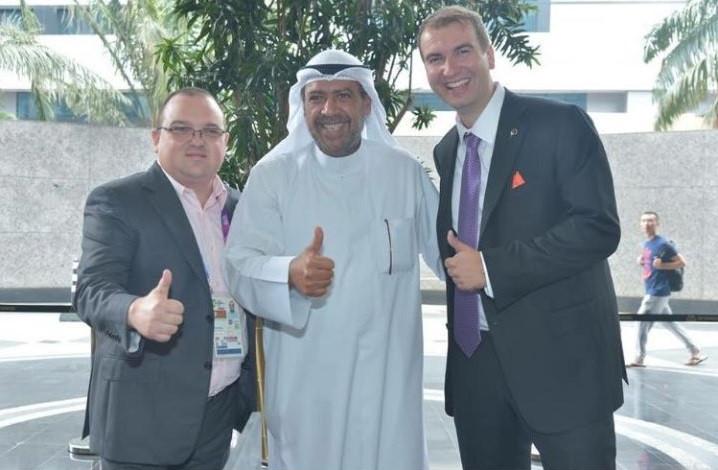 Sheikh Ahmad Al-Fahad Al-Sabah announced teqball's acceptance to the Asian Beach Games in Sanya ©FITEQ