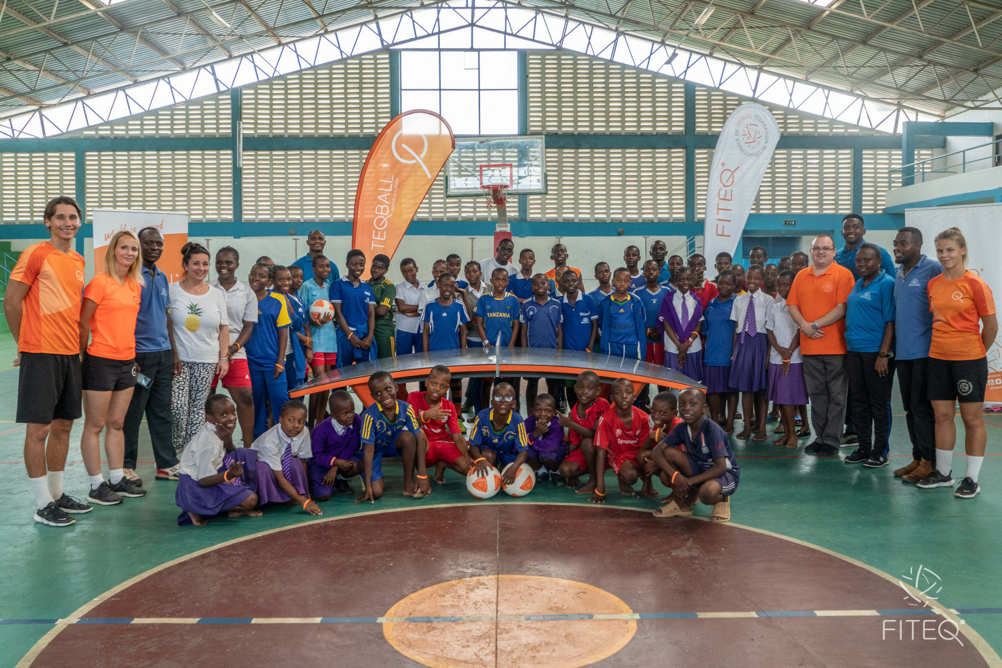 FITEQ is working in partnership with Olympafrica and donated tables in Tanzania ©FITEQ