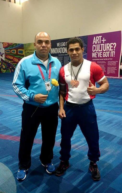 Khaled Korany, left, with Egypt's Olympic medallist Mohamed Ihab ©Khaled Korany