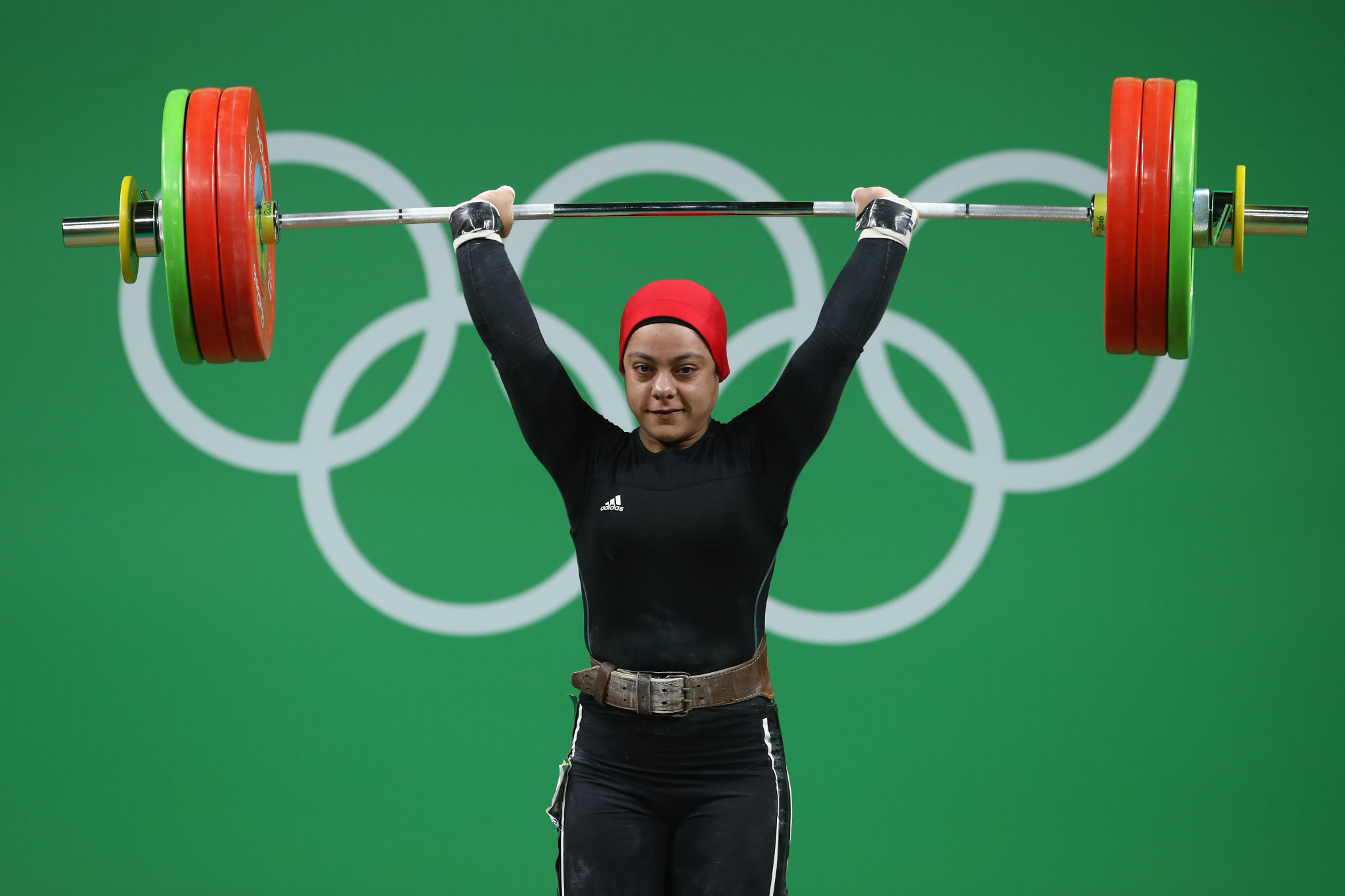 Rio 2016 medallist Sara Ahmed was one of six Egyptian weightlifters to test positive at the African Games in Morocco ©Getty Images