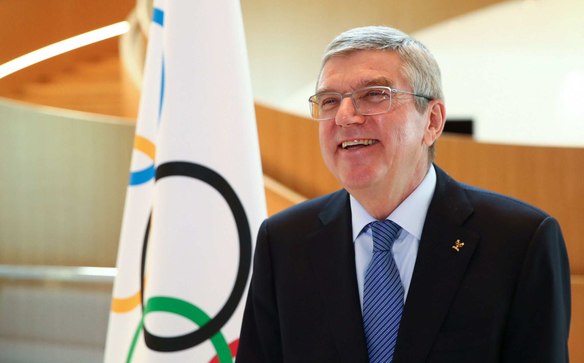 IOC President Thomas Bach acknowledged the Tokyo 2020 Olympic Games would be cancelled if they were not held in 2021 ©Getty Images