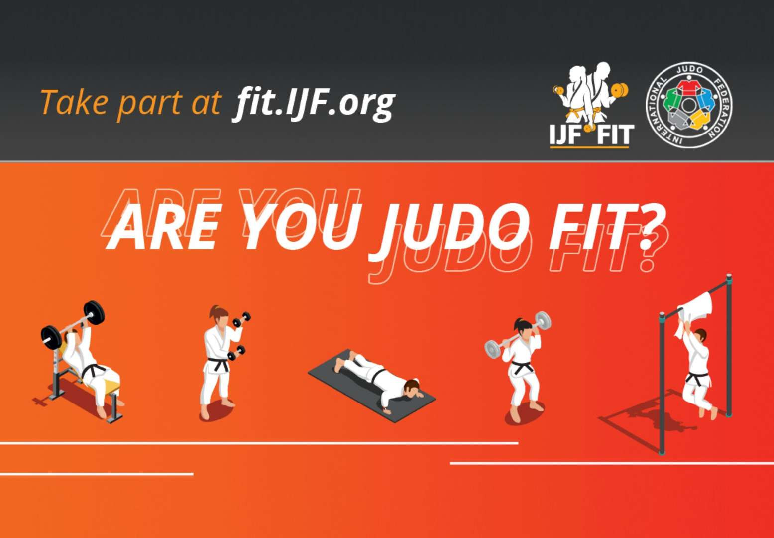Judo Fit has been launched to encourage physical activity and connect judo fans with elite athletes ©IJF