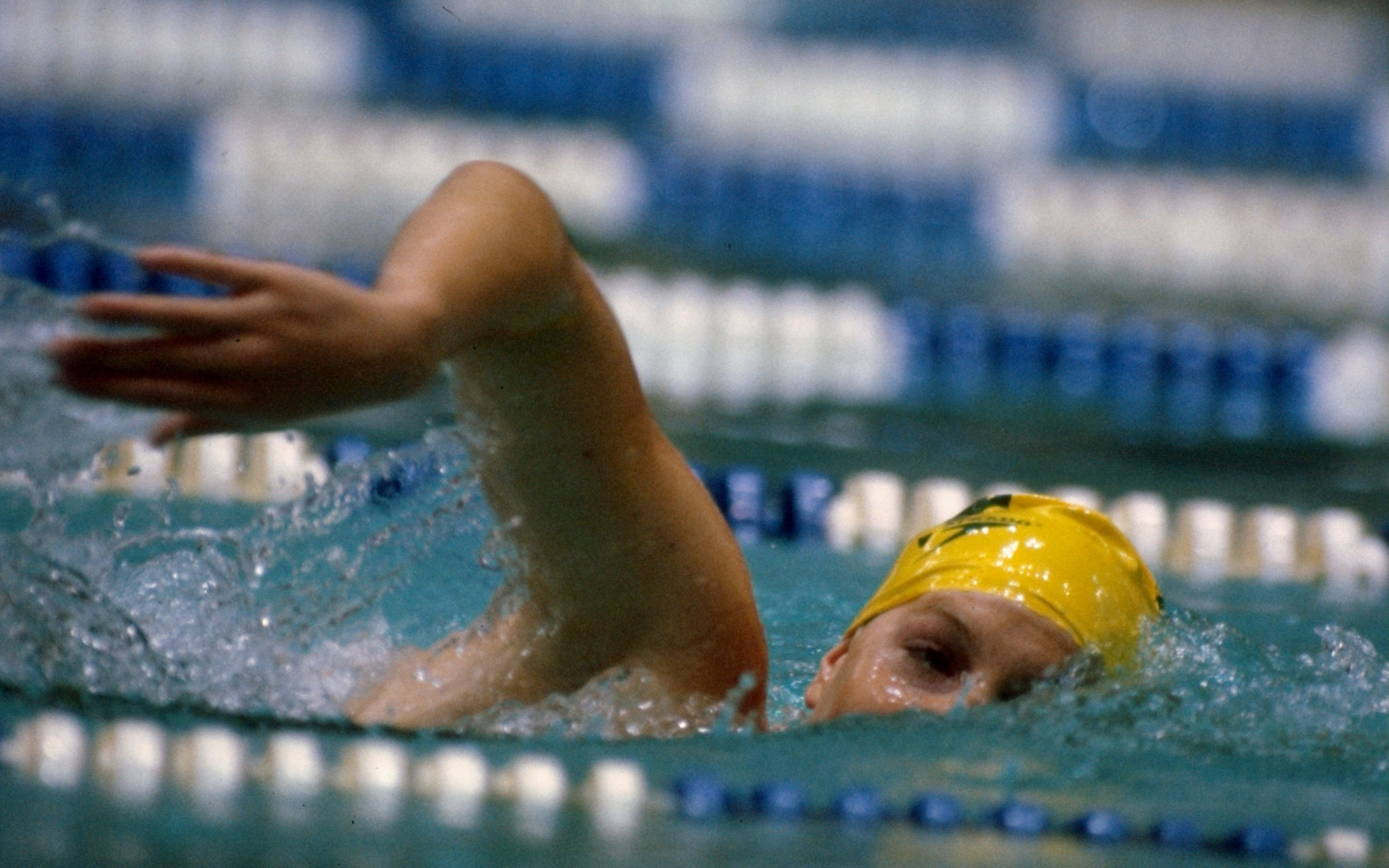 Michelle Ford is the pool in Moscow ©Getty Images