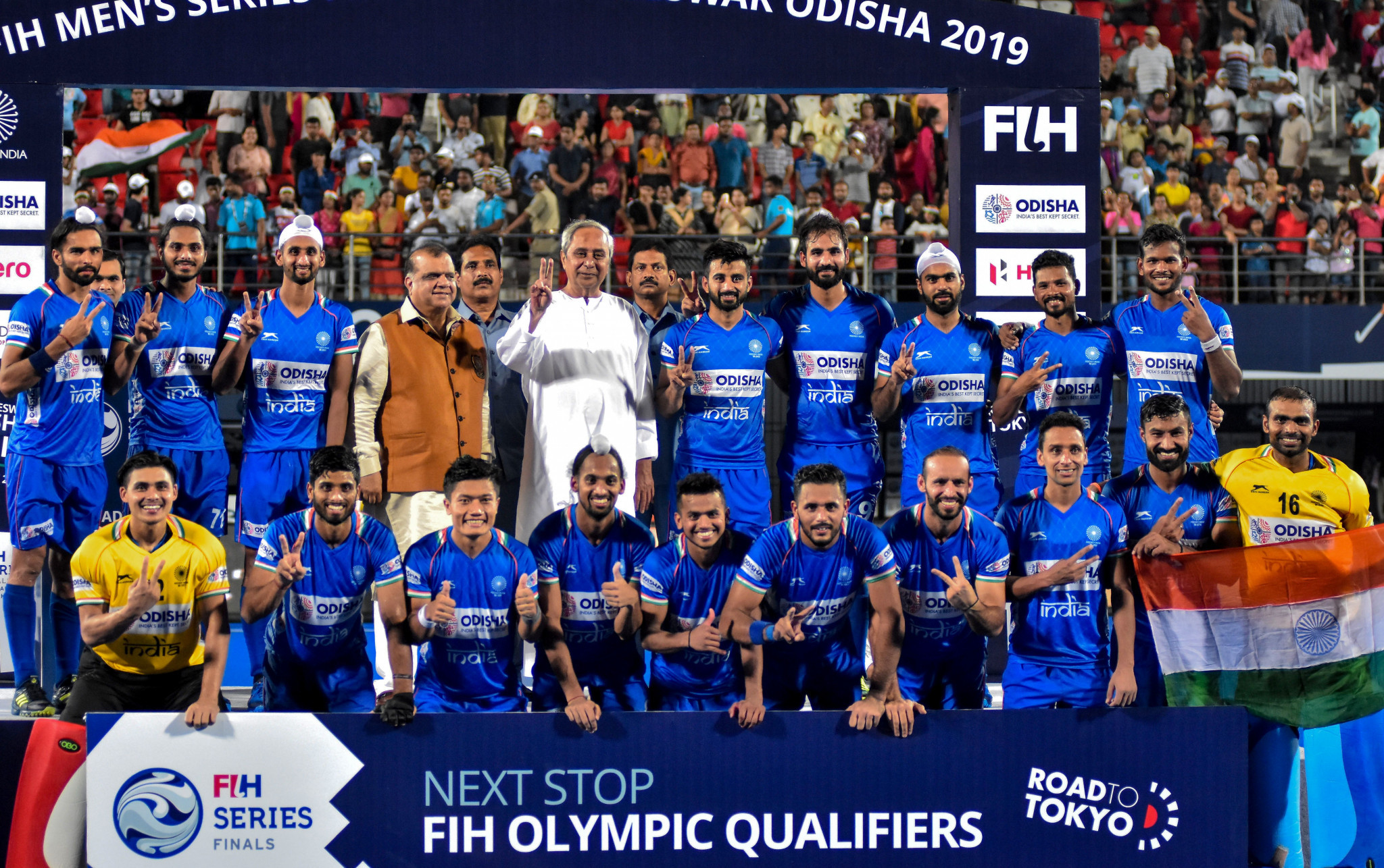 The Indian men's hockey team were recently ranked fourth in the world ©Getty Images