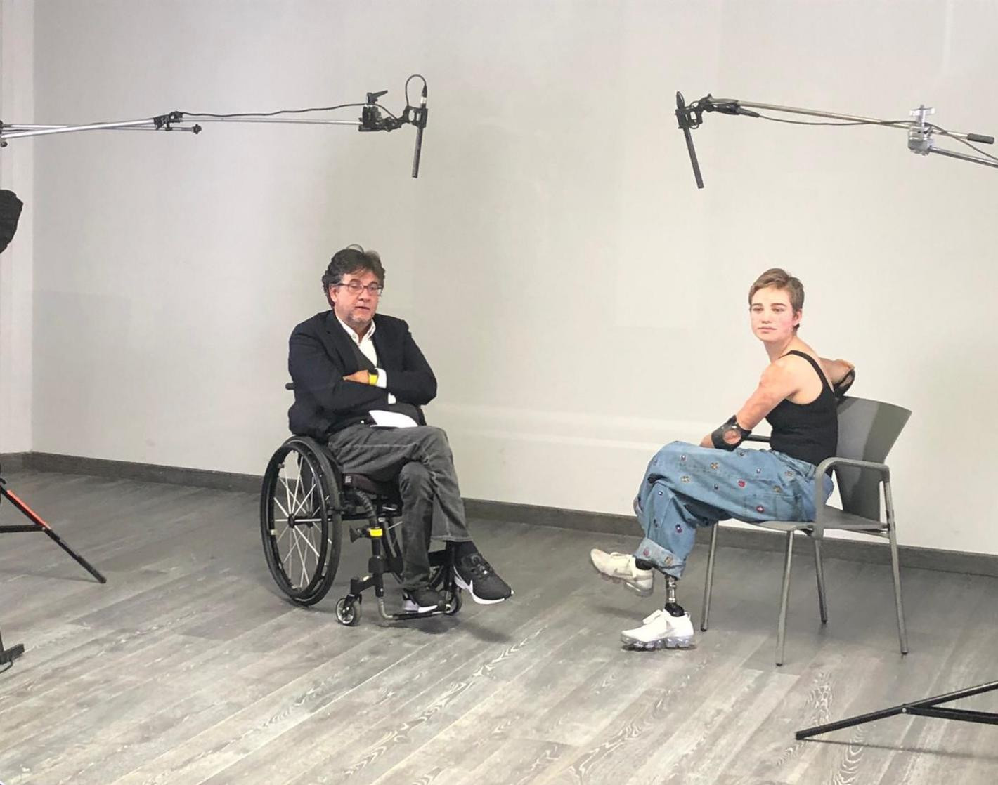 Bebe Vio has taken part in a virtual clinic for Italian television ©CIP