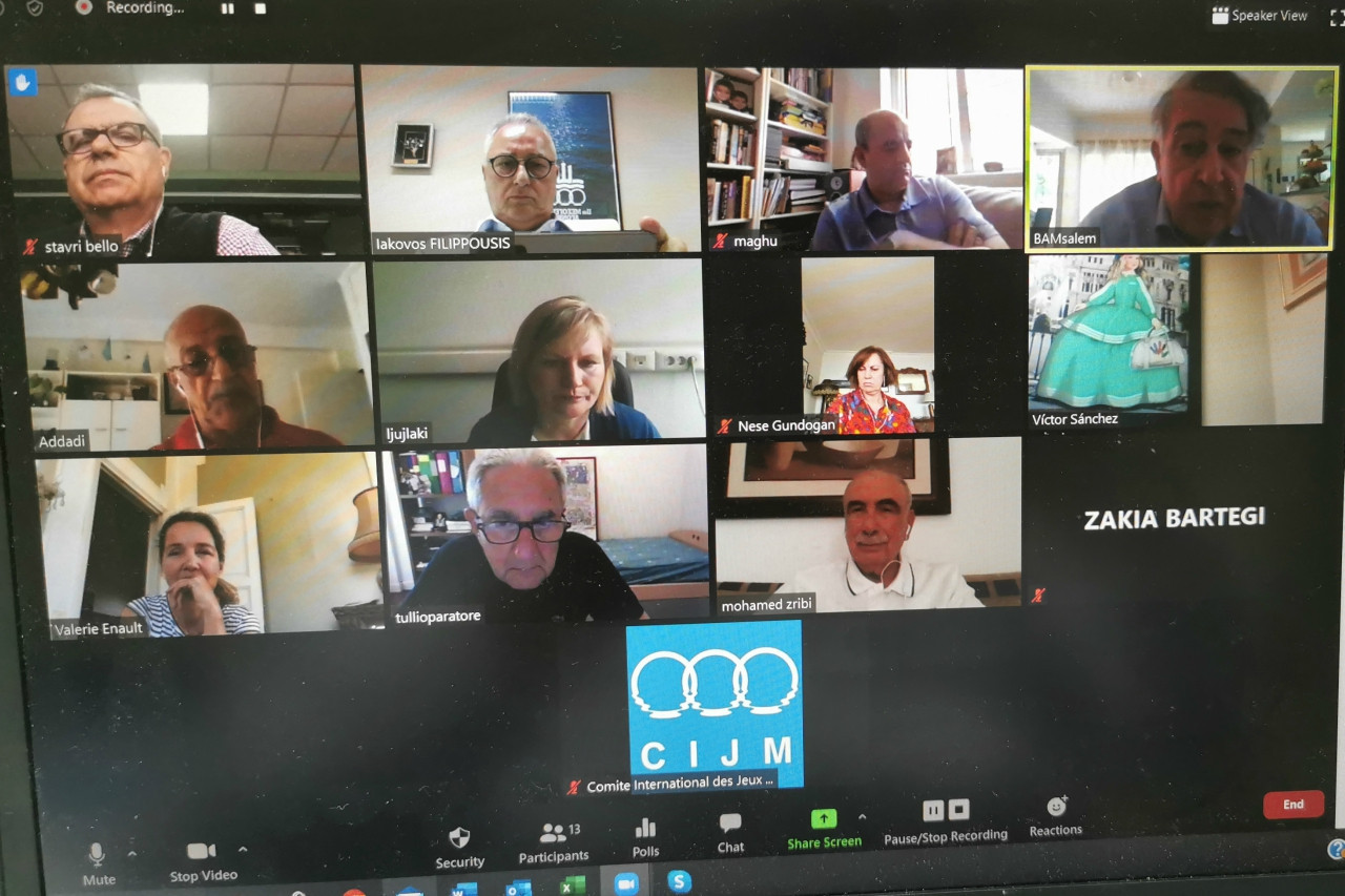 The International Committee for the Mediterranean Games met virtually for the first time since the coronavirus pandemic begun ©CIJM