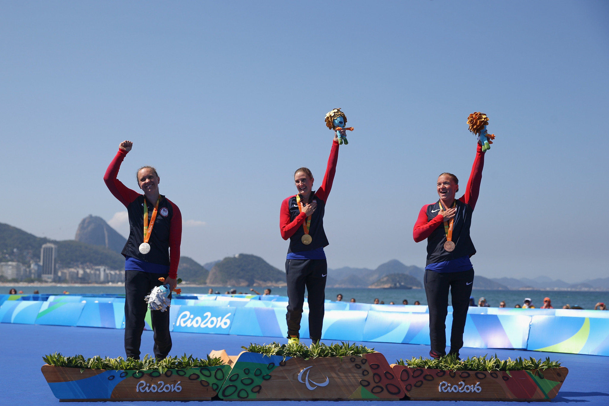 All three podium finishers from the PT2 women's individual race at Rio 2016 will be taking part ©Getty Images