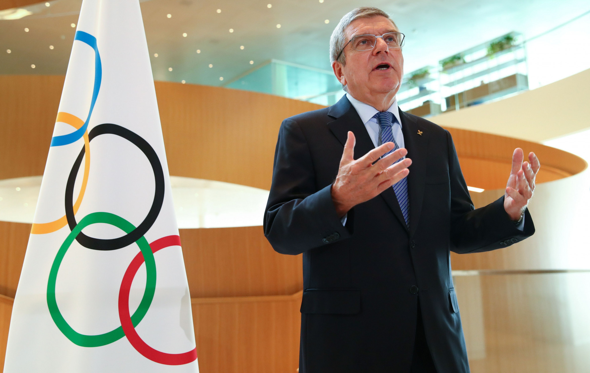 IOC President Thomas Bach has said Rule 50 could be reviewed as part of a consultation by the IOC Athletes Commission, a stance welcomed by Athletes Germany ©Getty Images