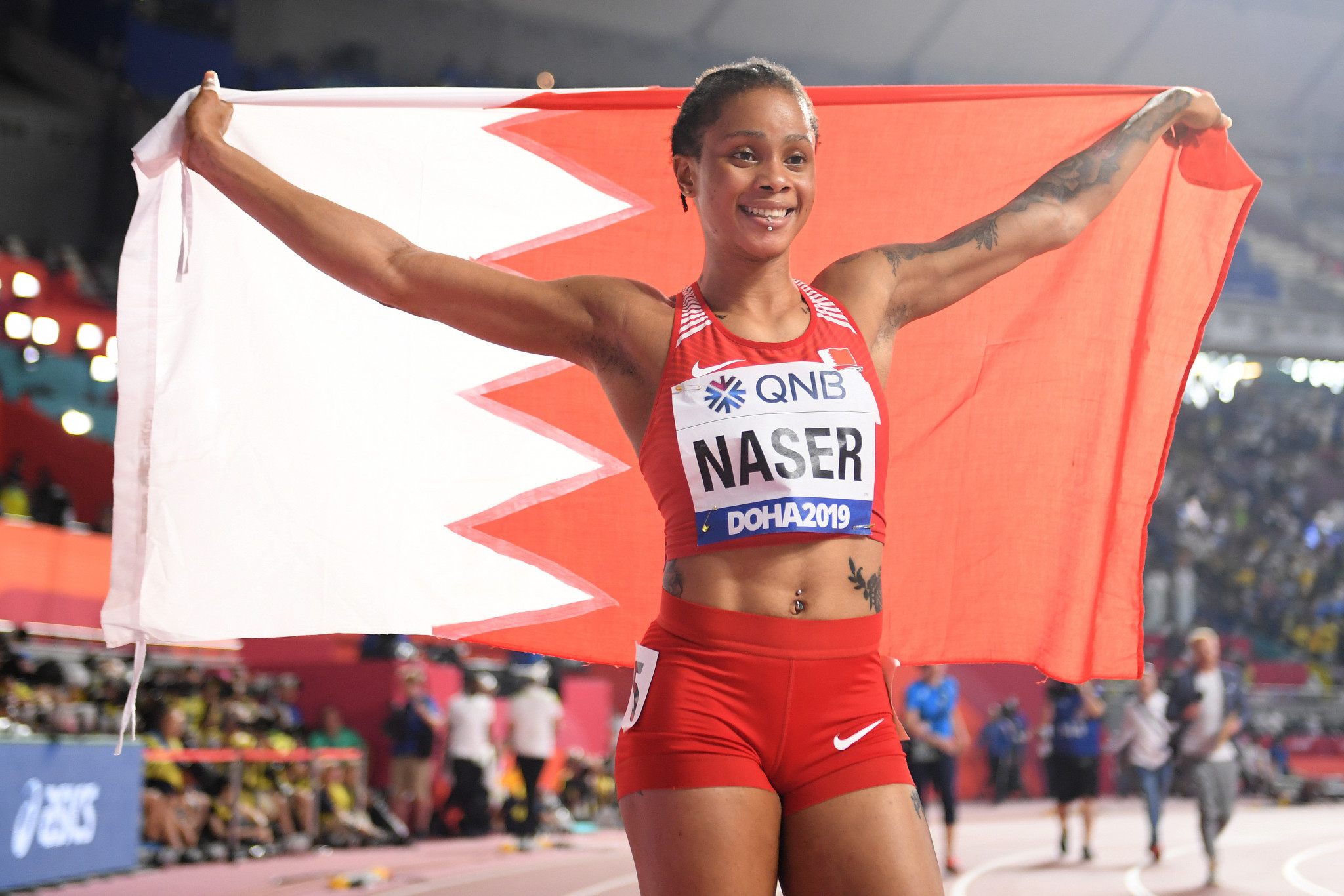 """Salwa Eid Naser said she """"would never cheat"""" in a video released on social media after she received a provisional suspension for whereabouts failures ©Getty Images"""