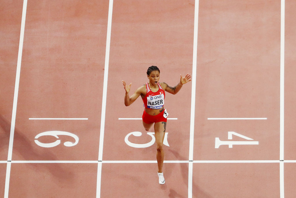 Salwa Eid Naser of Bahrain was under investigation for whereabouts failures prior to winning gold at the World Championships ©Getty Images