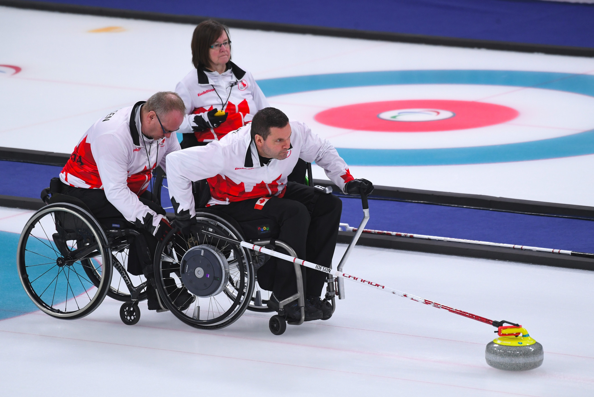 Canada won the first three Paralympic titles in wheelchair curling ©Getty Images