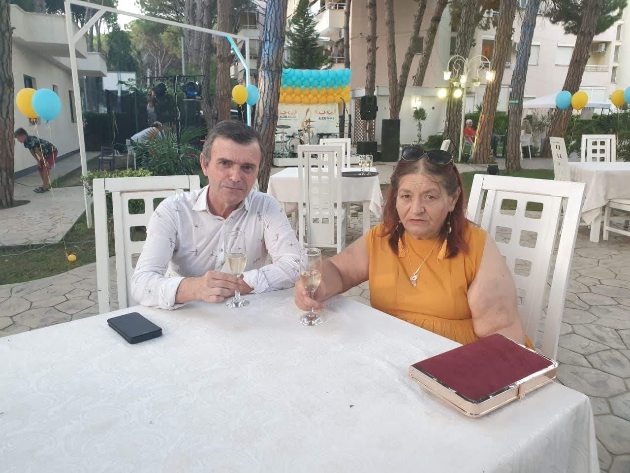 Agron Haxhihyseni, pictured with his wife ©Agron Haxhihyseni