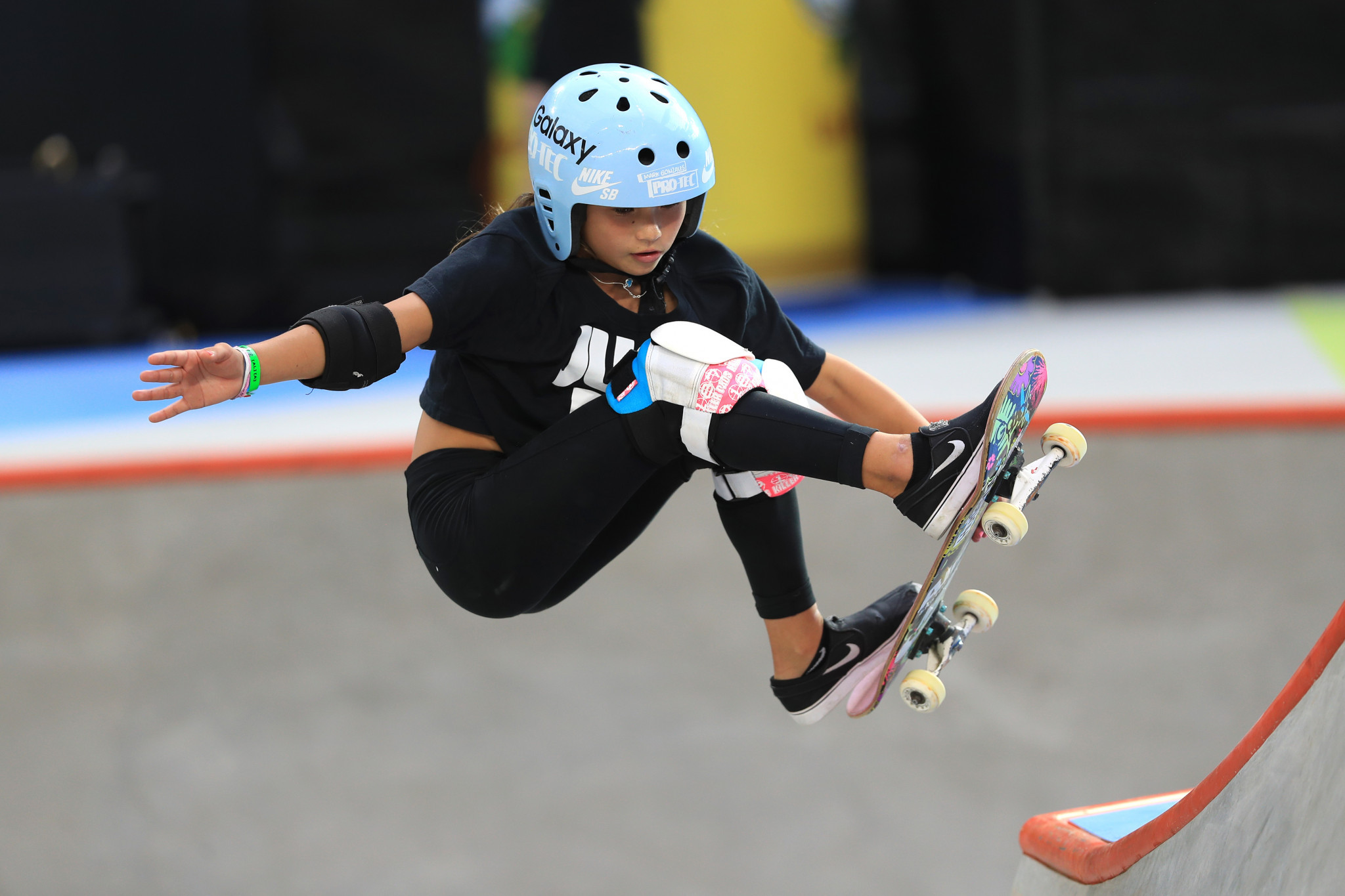 """Britain's 11-year-old skateboarder shared news of accident to show """"that it's okay to fall"""""""