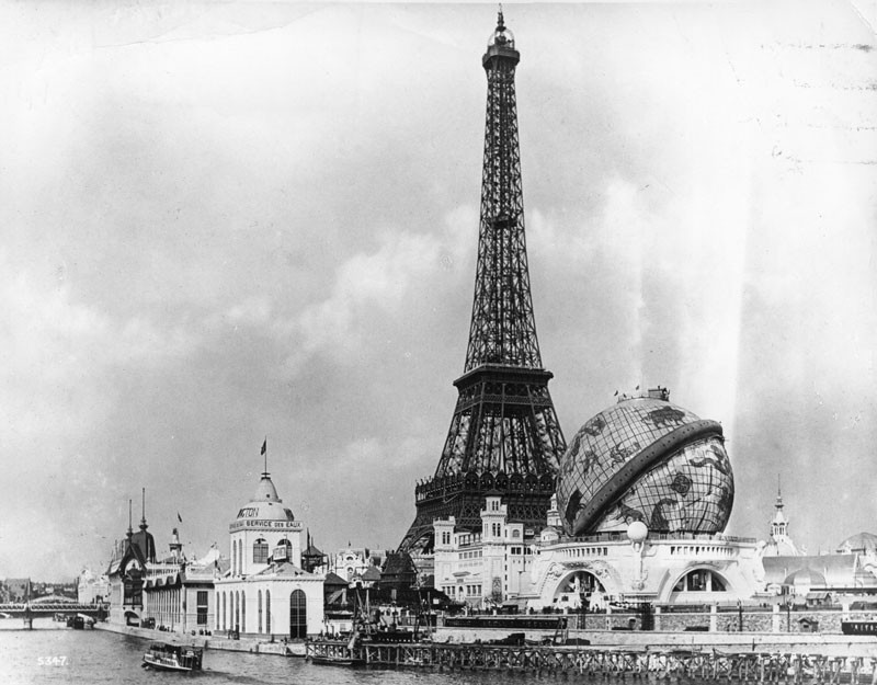 The Eiffel Tower, built to commemorate the 100th anniversary of the French Revolution, was the central focus of both the 1889 and the 1900 Paris Exhibition site where some of the Olympic Games was based. © London Stereoscopic Company/Getty Images.