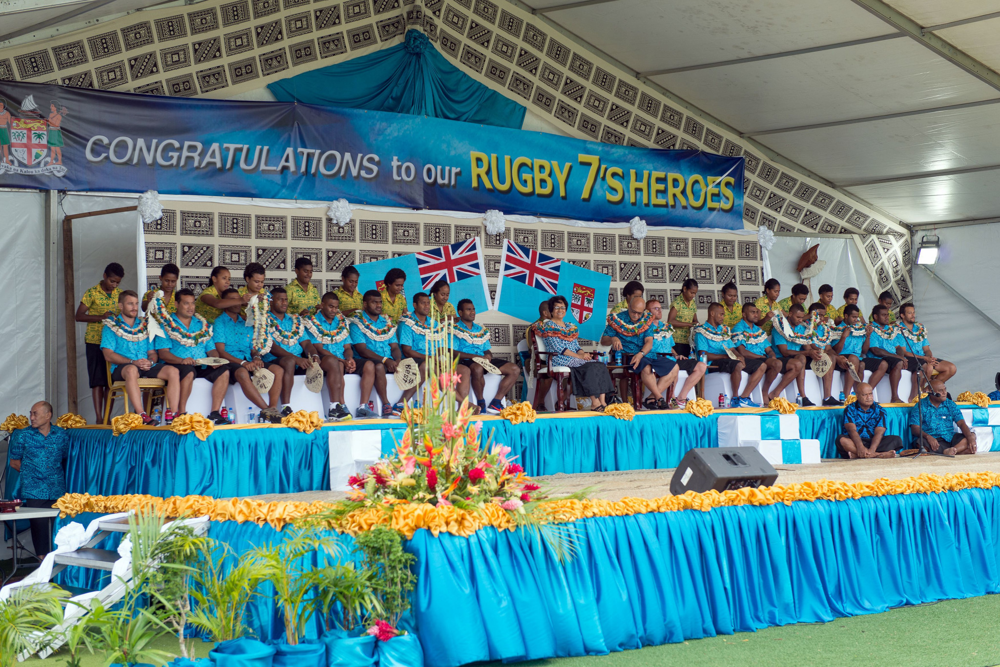 Fiji's victory in the rugby sevens contest at Rio 2016 was a historic moment for the country ©Getty Images
