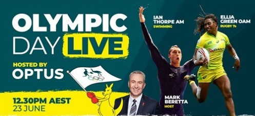 The AOC is hosting a live event with two of its top athletes to coincide with Olympic Day ©AOC
