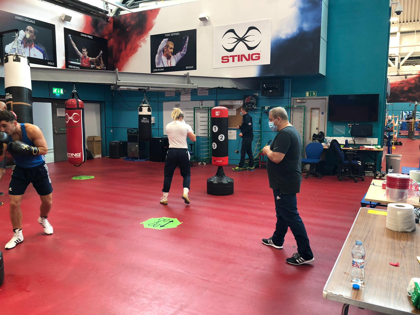 Boxing training has resumed in Britain under various restrictions ©GB Boxing