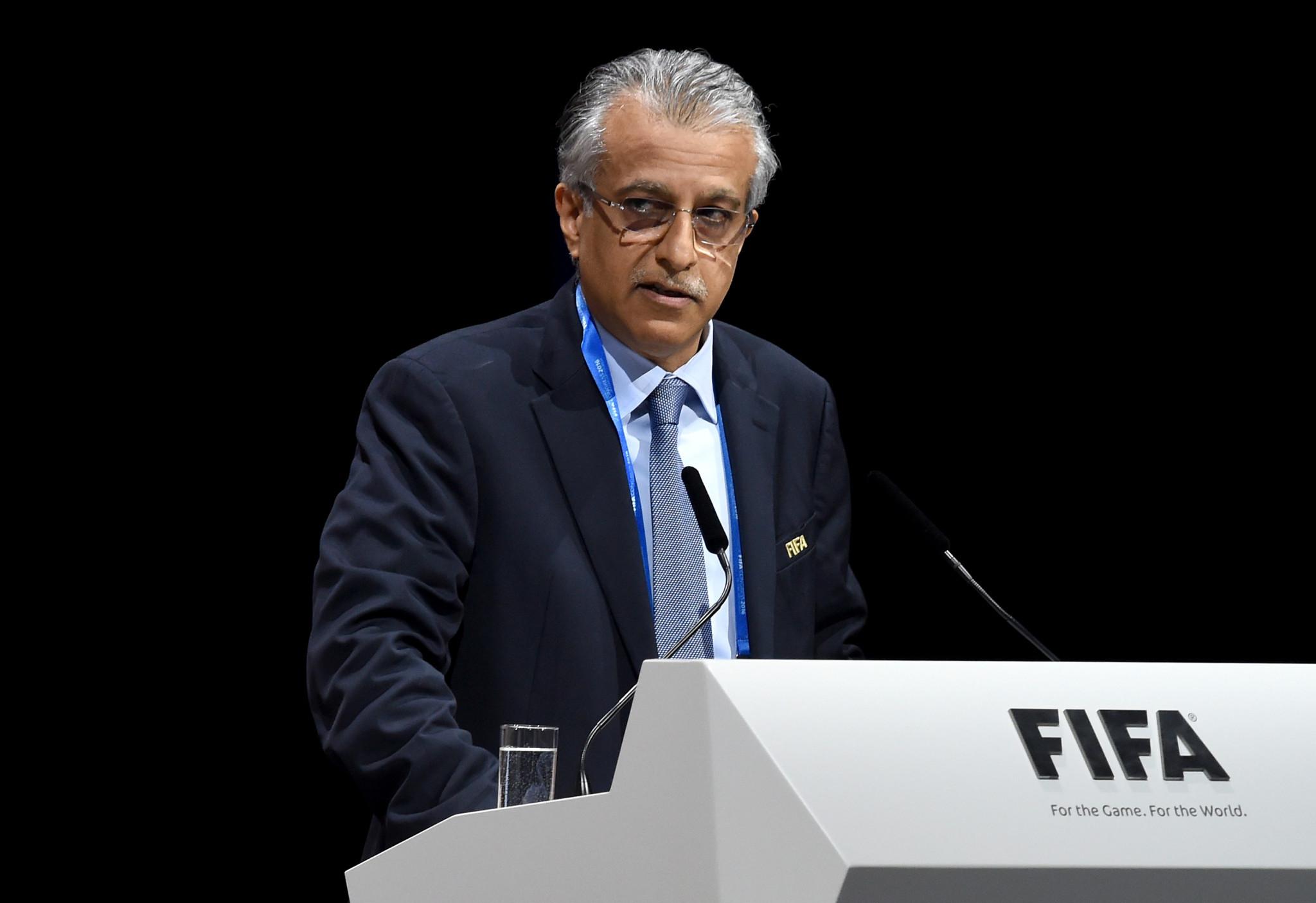 AFC President Shaikh Salman bin Ebrahim Al Khalifa endorsed the Australia and New Zealand joint bid for the 2023 FIFA Women's World Cup ©Getty Images