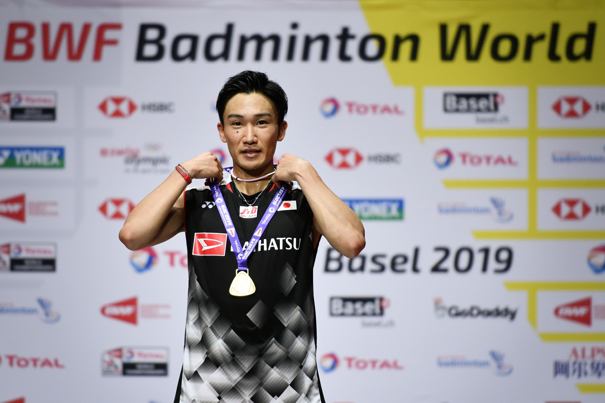Kento Momota earned his second successive world title last year ©Getty Images